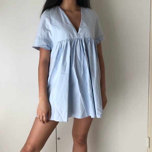 96d84ae5 *RARE Zara baby blue poplin dress romper. M_5b63ad805a9d2193a3fa4c47